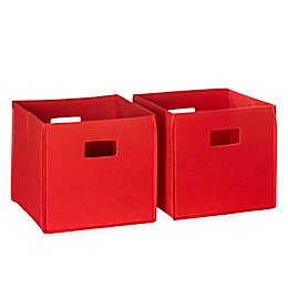 RiverRidge Home Folding Storage Bins for Kids (Set of 2)