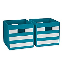 RiverRidge Home Folding Storage Bins for Kids (Set of 2)