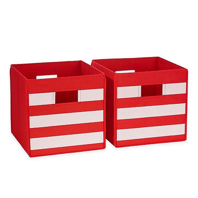 Alternate image 1 for RiverRidge® Home Folding Storage Bins for Kids (Set of 2)