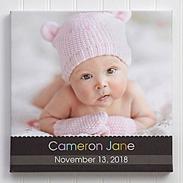 Little Memories Personalized Baby Photo Canvas Print Collection