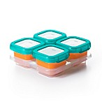 OXO Tot® 4-Pack 4 oz. Baby Blocks Freezer Containers in Teal