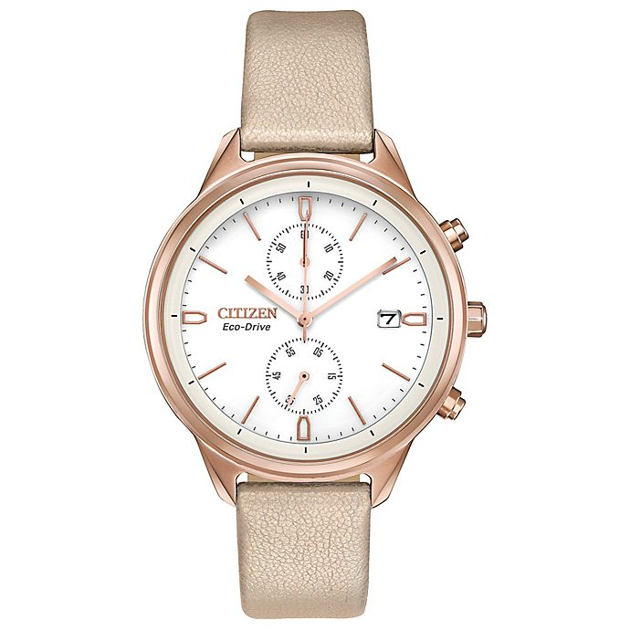 Citizen Eco Drive 39mm Chandler Chronograph Watch In Rose Goldtone