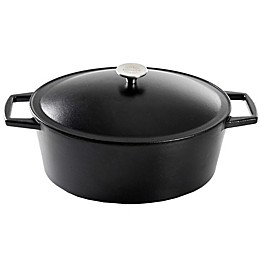 Artisanal Kitchen Supply® Pre-Seasoned Cast Iron Dutch Oven in Black