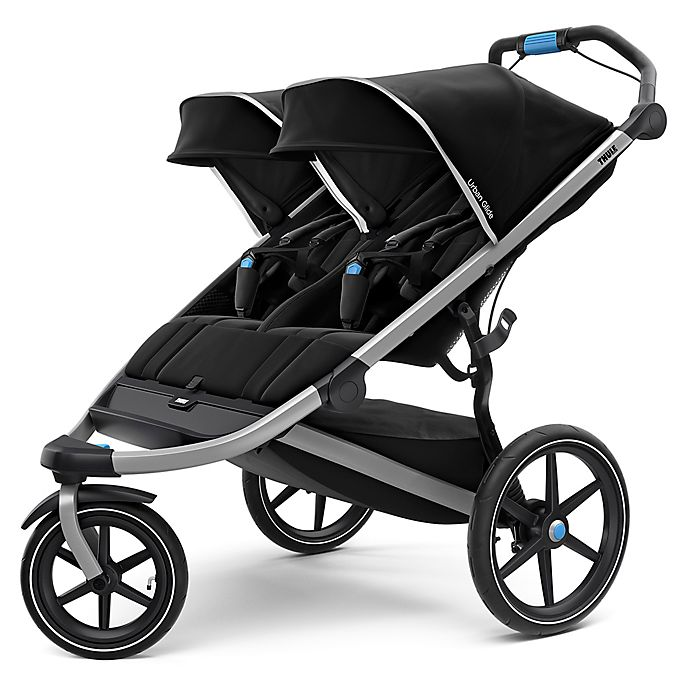 Alternate image 1 for Thule® Urban Glide 2 Double Stroller in Black