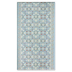 Soft Modern Reversible Rug in Victorian Blue