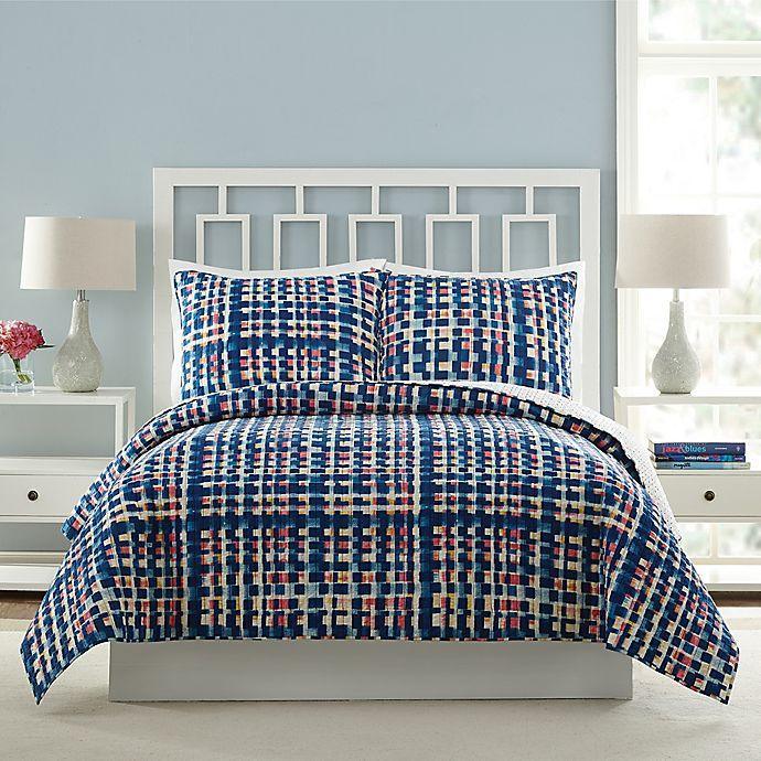 Alternate image 1 for Vera Bradley® Abstract Blocks King Quilt in Blue