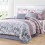 Carmela Home Breezy Reversible 7-Piece Queen Comforter Set in Coral