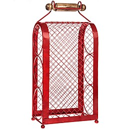 Home Essentials & Beyond 3-Bottle Table Wine Rack in Red