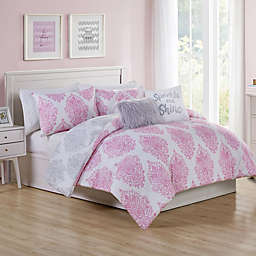VCNY Home Love the Little Things 5-Piece Reversible Full Comforter Set in Pink