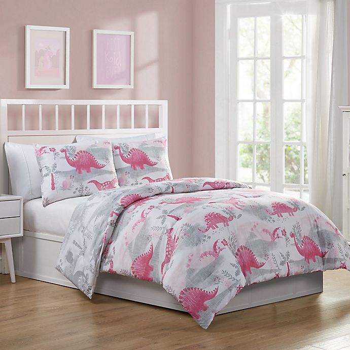 VCNY Home Dino Quest Reversible Comforter Set in Pink ...