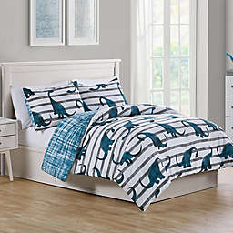 VCNY Home Dino's Path Reversible Comforter Set