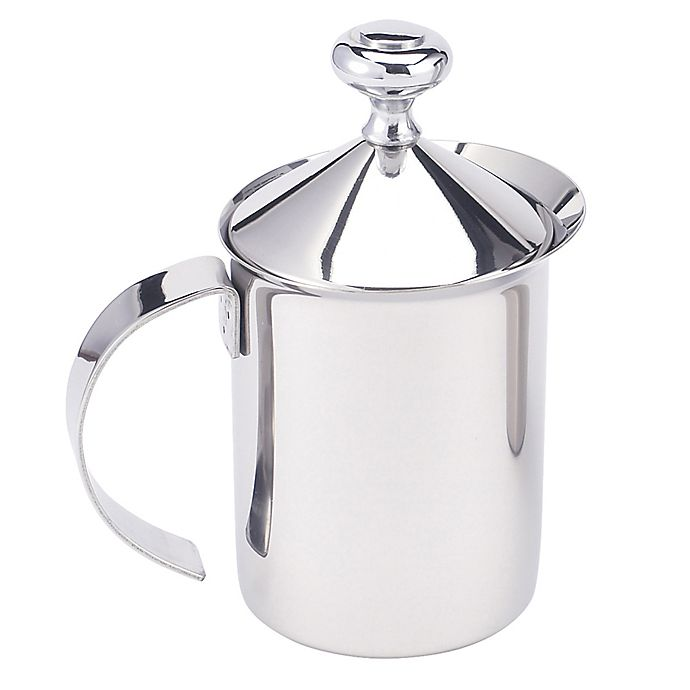 Alternate image 1 for HIC 14 oz. Stainless Steel Milk Frother Pitcher with Handle and Lid