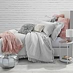 Jersey Knit Ruffle Twin/Twin XL Comforter Set in Light Grey