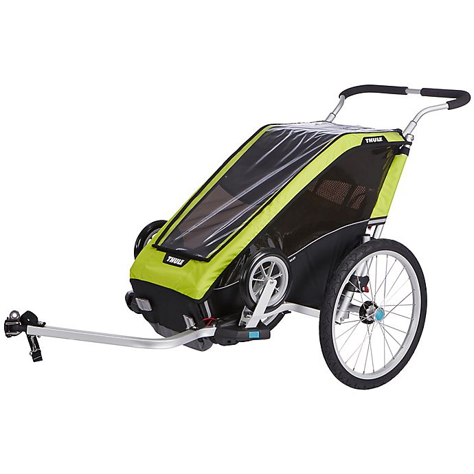 Alternate image 1 for Thule® Chariot Cheetah XT 1 for Cycle-Stroll in Chartreuse/Black