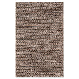 Momeni Como Herringbone Indoor/Outdoor 7'10 x 10'10 Area Rug in Tan