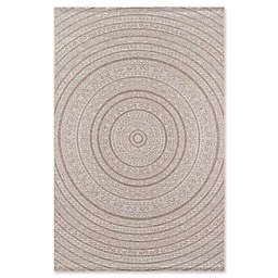Momeni Como Medallion Indoor/Outdoor Rug in Tan
