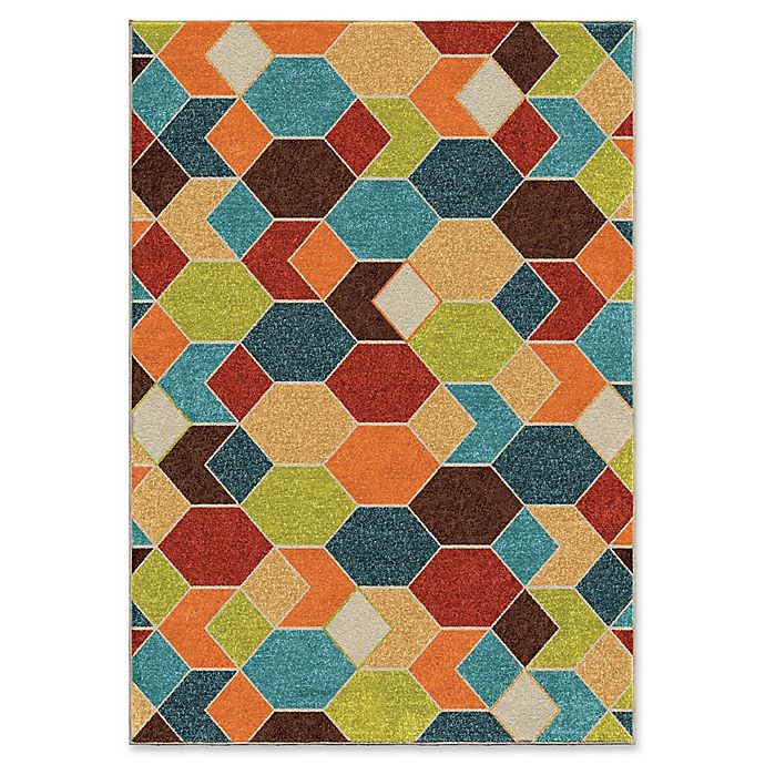 Orian Rugs Diamond Struck Multicolor Indoor Outdoor Area Rug