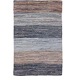 Surya Global Hand-Loomed Area Rug in Denim Blue/Brown