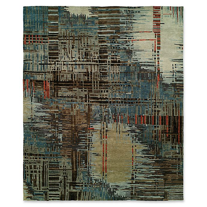 Alternate image 1 for Natori Dynasty Abstract Plaid 9' x 12' Area Rug in Blue