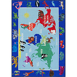 Home Dynamix Eric Carle Elementary World Map 2'9 x 4'3 Area Rug in Multicolor