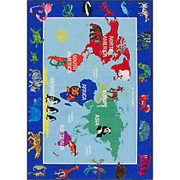 Home Dynamix Eric Carle Elementary World Map Area Rug