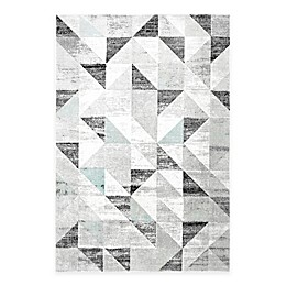 Nicole Miller Patio Country Sofia Geometric 7'9 x 10'2 Indoor/Outdoor Area Rug in Grey/Blue