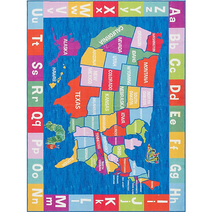 Alternate image 1 for Home Dynamix Eric Carle Elementary USA Multicolor Rug