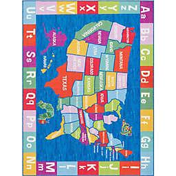 Home Dynamix Elementary USA Multicolor 6'6 x 9'5 Area Rug