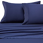 Heartland® HomeGrown™ 400-Thread-Count Solid Sateen Queen Sheet Set in Navy