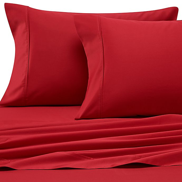 Alternate image 1 for Heartland® HomeGrown™ 400-Thread-Count California King Sheet Set in Red