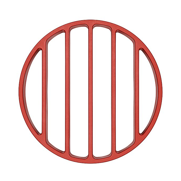 Alternate image 1 for OXO Silicone Pressure Cooker Roasting Rack in Red