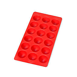 Lékué Silicone Ice Tray for Round Ice Cubes in Red