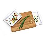 Lipper Bamboo Cutting Board with 2 Trays