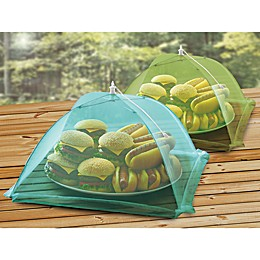 Food Tent in Green and Blue (Set of 2)