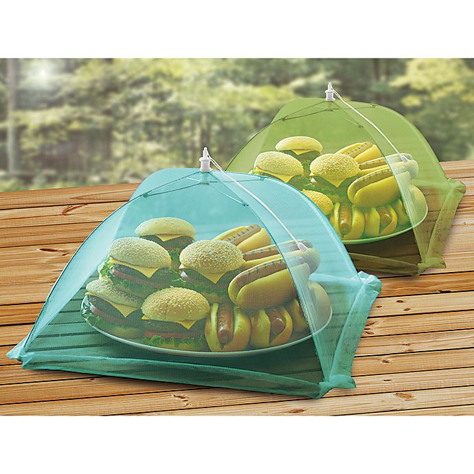 Alternate image 1 for Food Tent in Green and Blue (Set of 2)
