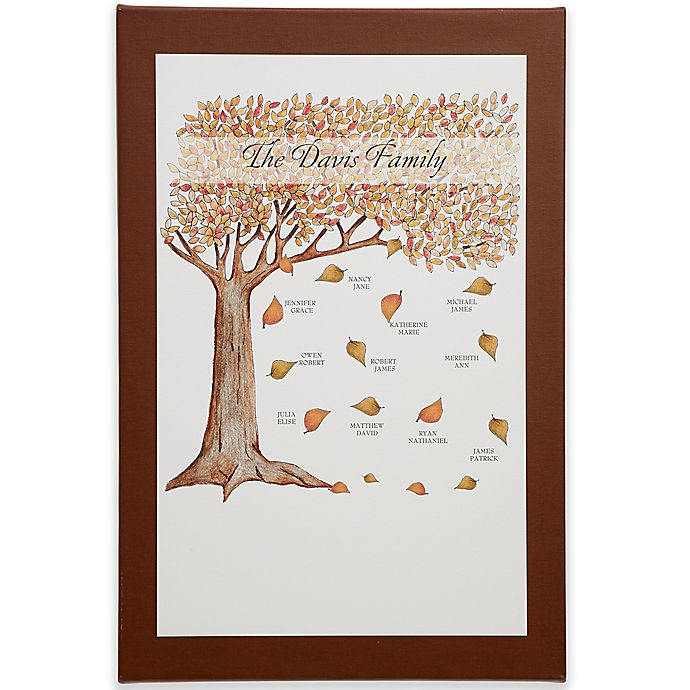 Alternate image 1 for Fall Family Tree Canvas Print