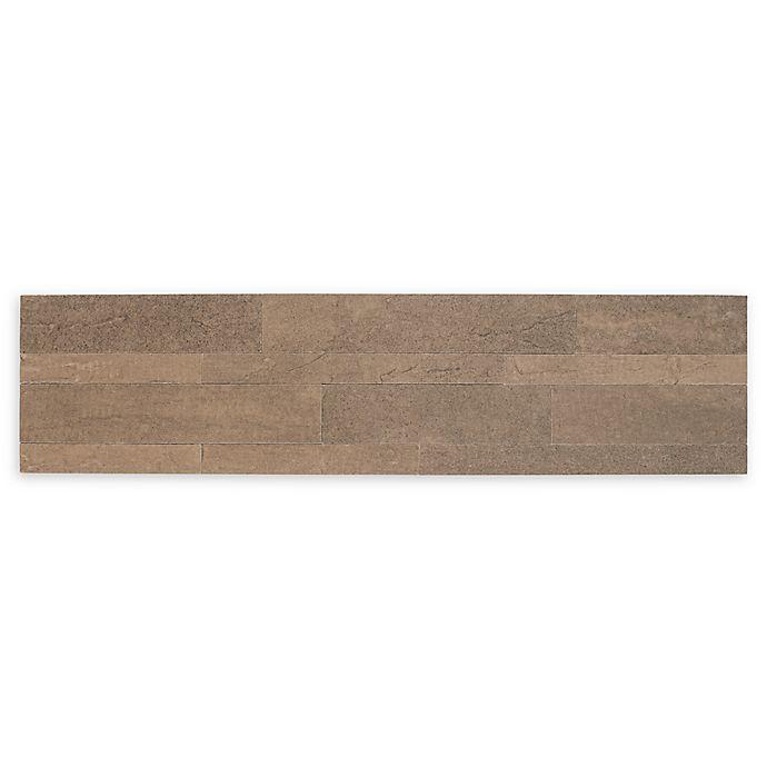 Alternate image 1 for Achim Bolder Stone Peel & Stick Wall Tile in Mocha