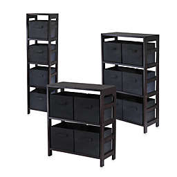 Capri Espresso and Black Storage Shelf Systems