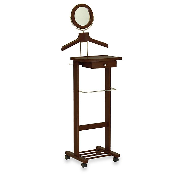 Alternate image 1 for Valet Stand with Mirror and Drawer