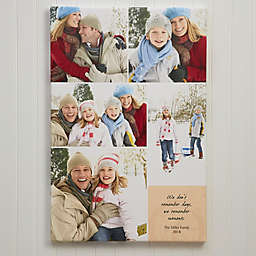 Personalized 5-Photo Collage Canvas Print