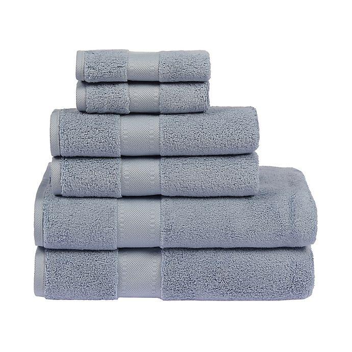 Alternate image 1 for Sadem Distinction 6-Piece Bath Towel Set in Pastel Blue