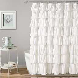 Lush Décor Emily Shower Curtain in White