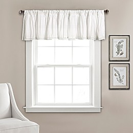 Lush Décor Emily 70-Inch Rod Pocket Window Curtain Valance in White