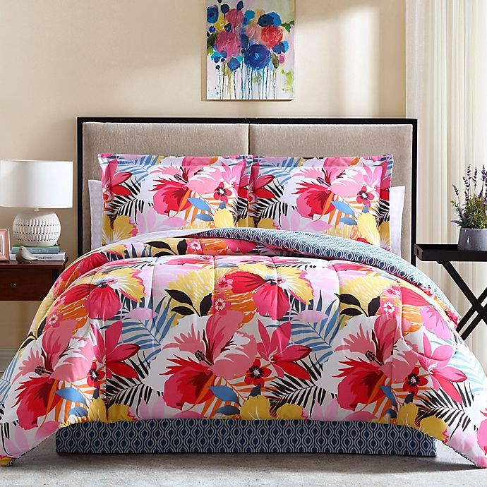 Alternate image 1 for Lemon & Spice Lanai 8-Piece Queen Comforter Set in Pink
