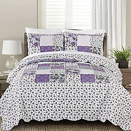 MHF Home Beatrice Twin Quilt Set in Lavender
