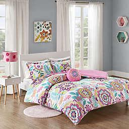 Mi Zone Camille Floral Printed Comforter Bedding Set