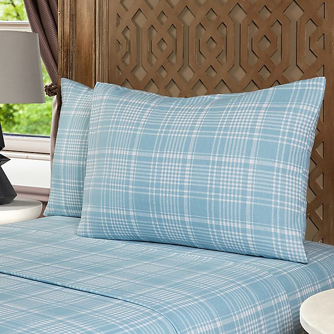 Alternate image 1 for Morgan Home Reo Turkish Cotton Flannel Sheet Set