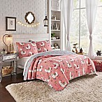 Vue® Llama Drama Reversible 4-Piece King Quilt Set in Coral