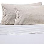 Faux Fur Standard Pillowcase in Coconut Milk
