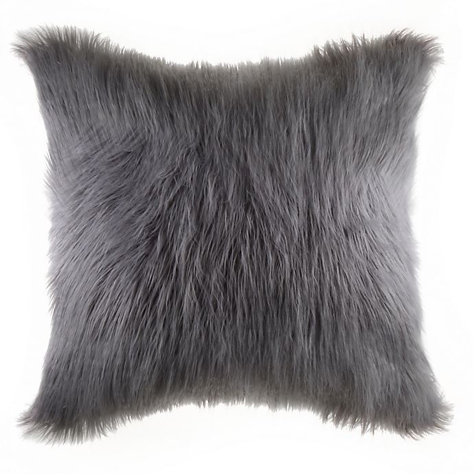 Alternate image 1 for Flokati Faux Fur Throw Pillow Collection